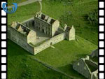 Aerial View of Ruthven Barracks (silent video clip)