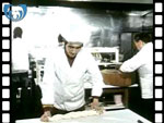 1985 Chinese Chef Making Noodles by Hand (silent video clip)