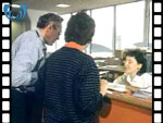 1985 Interior of Edinburgh Tourist Office (silent video clip)