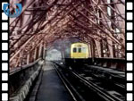 1984 Train Crossing Forth Rail Bridge (silent video clip)