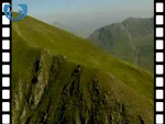 Aerial View of Devils Ridge in The Mamores, near Fort William (silent video clip)