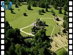 Aerial View of Ballindalloch Castle (silent video clip)