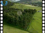 Aerial View of Braemar Castle (silent video clip)