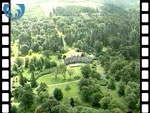 Aerial View of Dawyck House & Botanic Gardens (silent video clip)