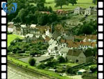 Aerial View of Culross And Abbey (silent video clip)