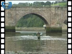 Catching salmon in a sweep net at Berwick-on-Tweed (video clip)