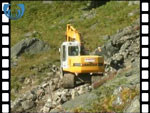 Quarrying rock in Glen Lee (video clip)